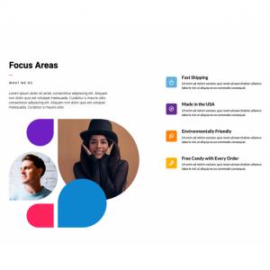 focus-areas content module