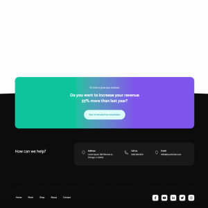 gradient-call-to-action footer module