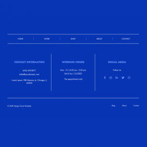 in-the-blue footer module