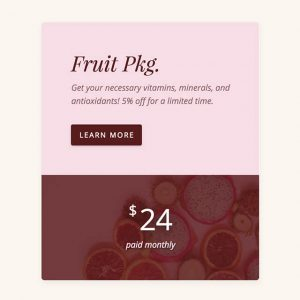 fresh pricing content module