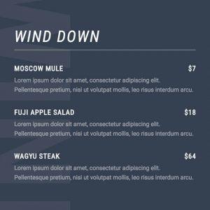 split-menu content module